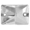Crystal Sew-on Stone Rectangle 13x18mm (2pcs) Crystal